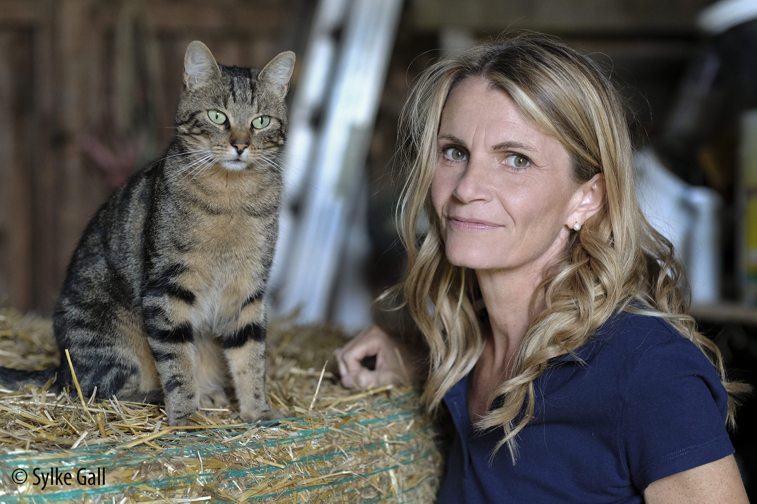 Alexandra Stross und Katze